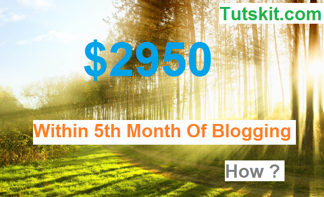 UK Blogger Earned $2950