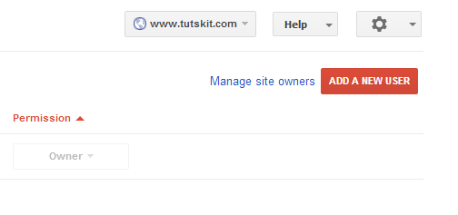 add new user to webmaster tools