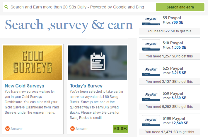 swagbucks money making