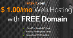 1 Dollar Web Hosting with Free Domain only $12