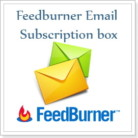 Email subscription box for blogger