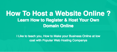 How to Host a website or Domain online ?
