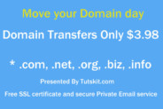 Domain transfers at $3.98 Never Before Deal 2016