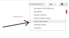 Add Site Owners to your Google Webmaster Tools