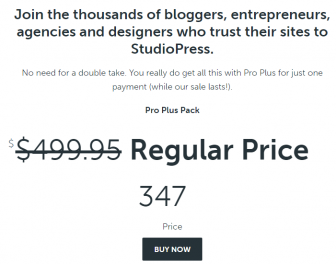Studiopress pro plus discount Special Limited Time Offer $347